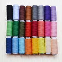 24pcs/set 200 Sewing Thread Polyester Thread Set Strong And Durable Sewing Threads For Hand Machines Sewing Yarn