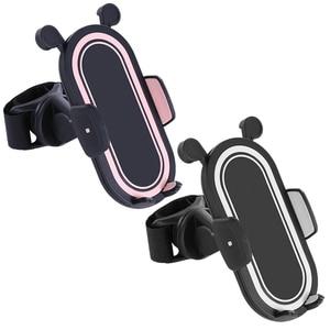 Image 2 - HX 360 Degree Rotate Baby Stroller Accessories Universal Holder Adjustable Mount Bracket Mobile Phone Stander Black White Pink