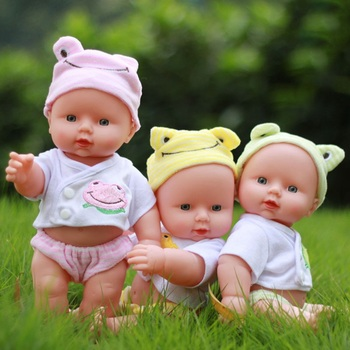 30CM Baby Reborn Dolls Vinyl Toys For Girls Sleeping Accompany Doll Reborn Beautiful Small Doll Birthday Present warkings reborn