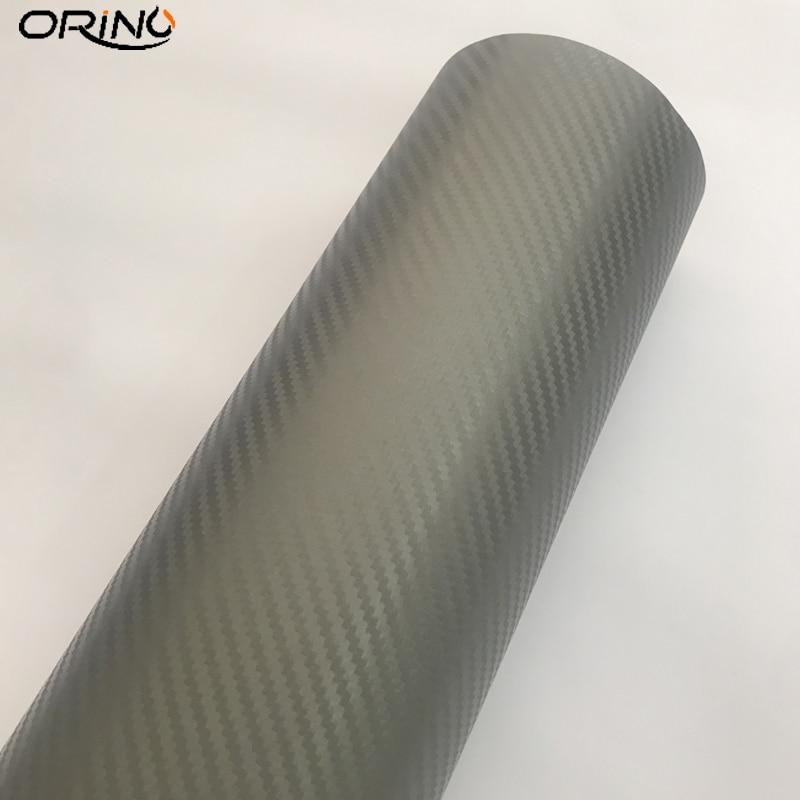 3D Carbon Fiber Grey Vinyl Wrap Sticker-4
