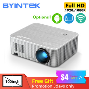 BYINTEK K15 4K 1920x1080P Smart Android Wifi Proyector LED Video Projector Beamer for 3D 4K 300inch Home Cinema Newest 1080p(China)