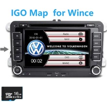 16GB TF SD Card GPS map for Volkswagen 2 din car radio windows ce 6.0 GPS Navigation MapsEurope/Russia/spain/middle east etc