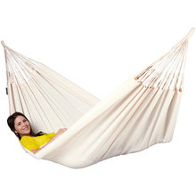 Canvas Hammock with White for Backyard Garden Comfortable Camping, Fabric, Patio, Porch & Hiking