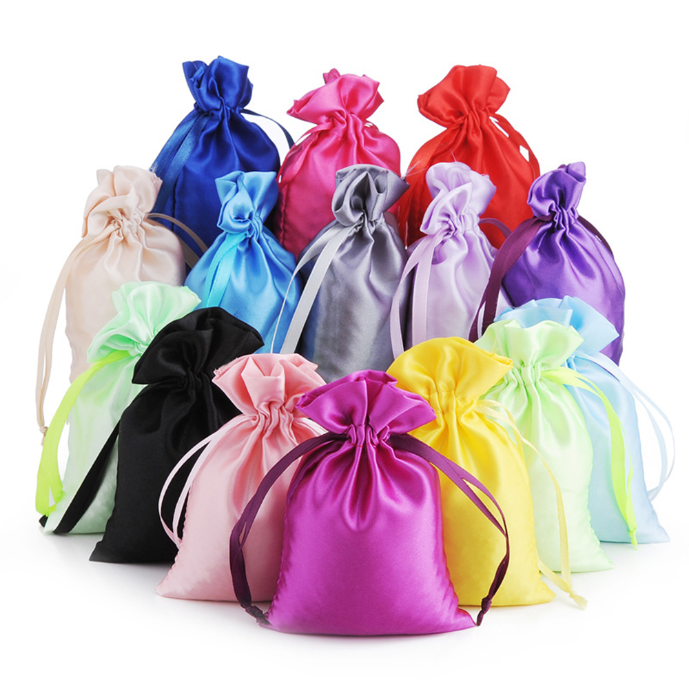 Drawstring-Bag Ribbon Packaging-Pouch Watch-Shoes Bead-Ring Jewelry Hair Makeup-Gift