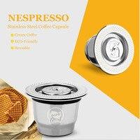 ICafilas Vip Link para Nespresso reutilizable cápsula rellenable Crema Espresso reutilizable nueva rellenable para Nespresso Filtros de café     -