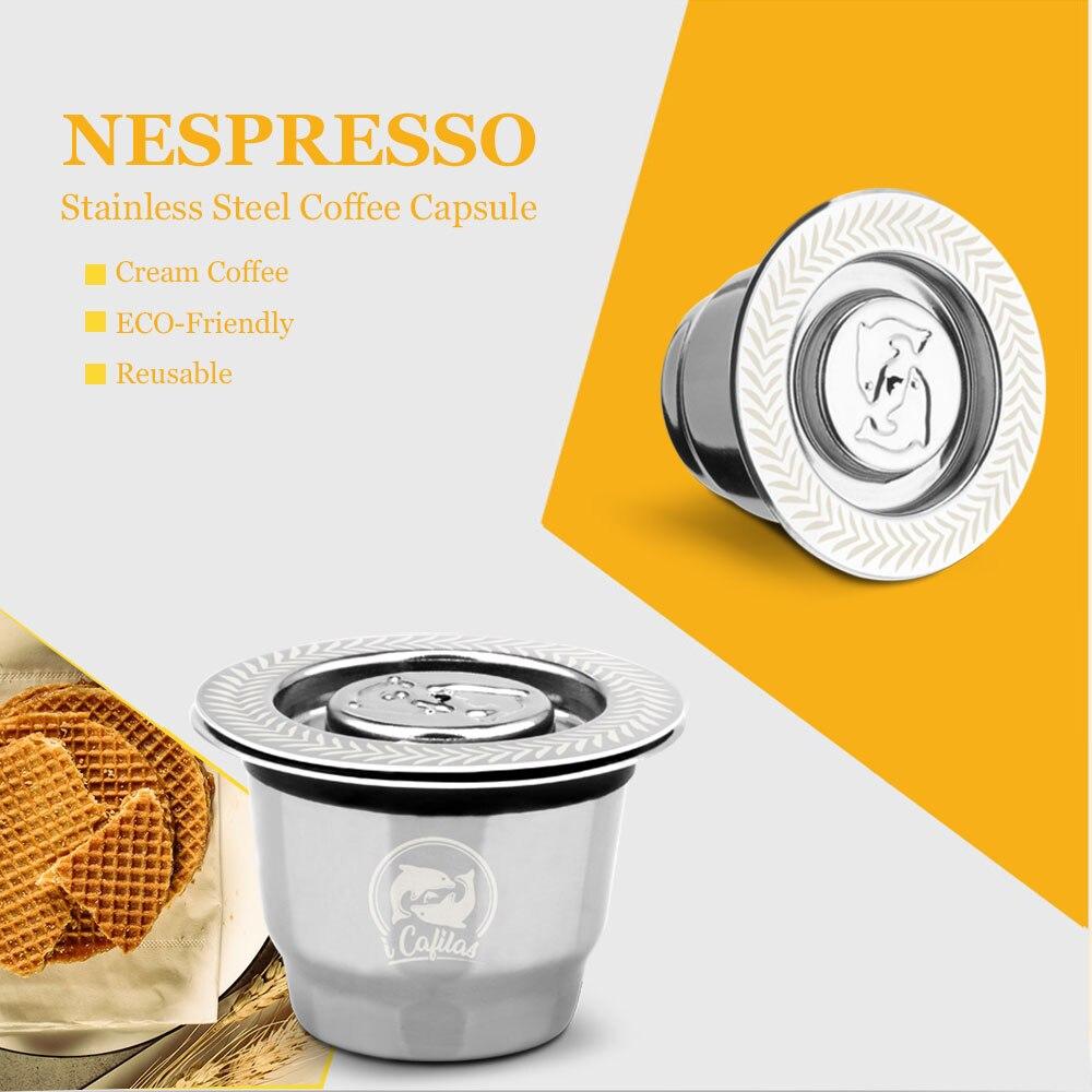Nespresso Reutilisable Refillable Capsule 용 iCafilas Vip 링크 Crema Espresso Nespresso 용 재사용 가능한 새 리필 가능