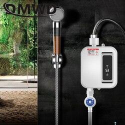 Dmwd 3500w instantânea torneira quente aquecedor de água mini rega elétrica tankless cozinha banheiro termostato aquecimento chuveiro