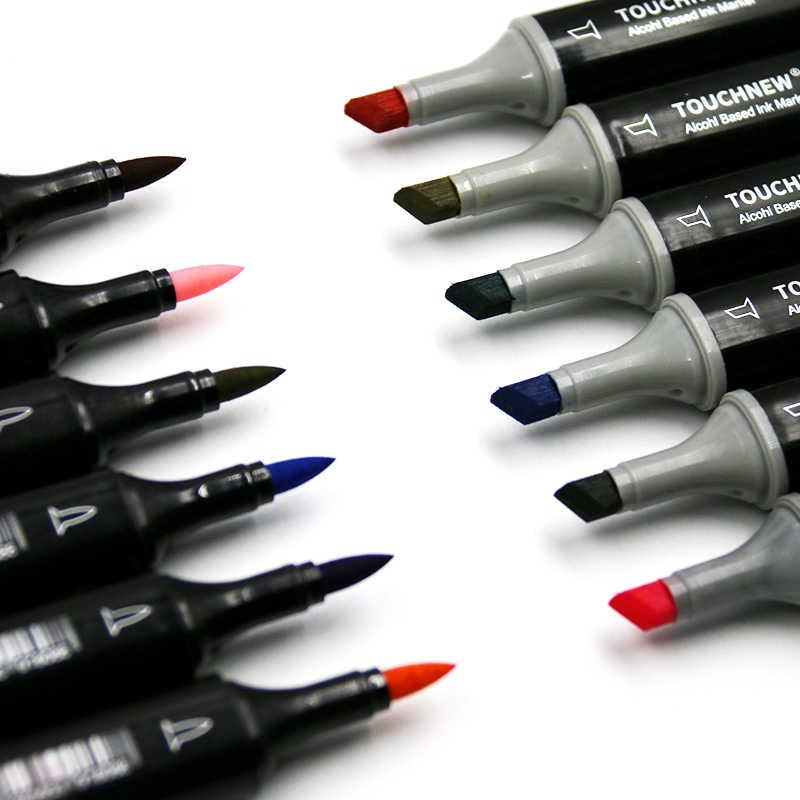 TOUCHNEW 30//40/60/80 doux pinceau marqueurs ensemble de stylos croquis pinceau marqueurs à base d'alcool Manga dessin Animation Art fournitures