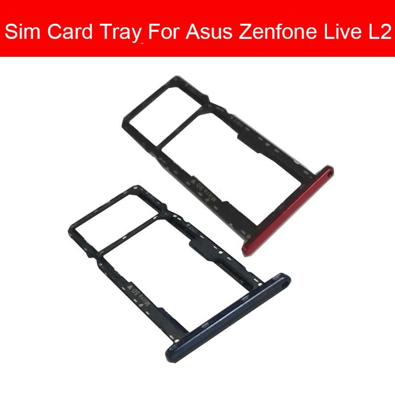 Держатель лотка для карт памяти и SIM-карт для Asus Zenfone Live L2 Sim и Micro Sd