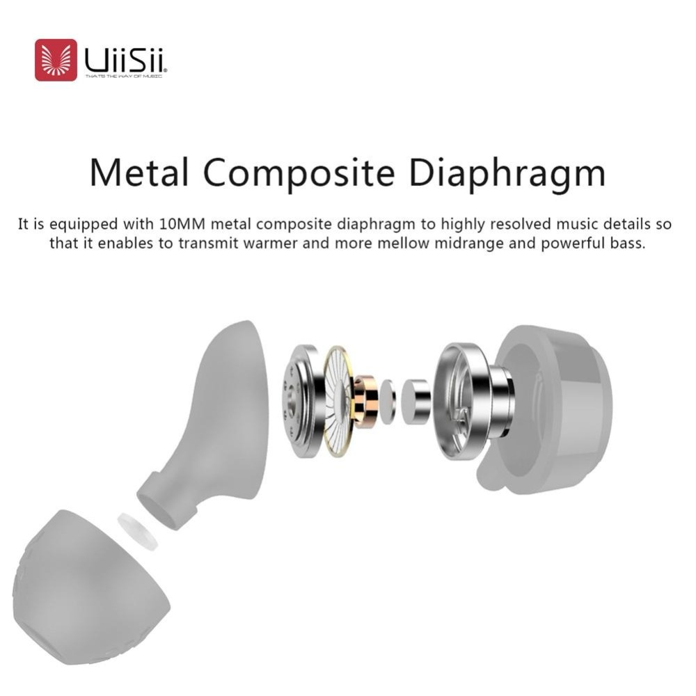 UiiSii In-ear Leather Headphones Super Bass Stereo Earphone with Microphone 3.5mm for iPhone /Samsung Phone xiaomi MP3