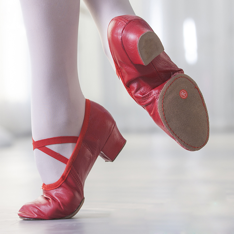Natural Leather Ballet Dance Shoes For Women Middle Heel Soft Stretch Jazz Salsa Dancing Shoes Sneakers For Girls Yoga Shoes