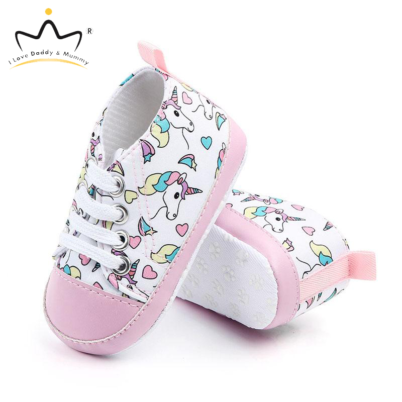 New Unicorn Canvas Baby Shoes Sneakers Soft Cotton Anti Slip Toddler Baby Boy Girl Shoes Boys Girls Casual Shoes First Walkers