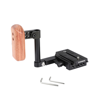 CAMVATE Simple Camera Holder Rig With Manfrotto Quick Release Plate & Left-side Wooden Handgrip