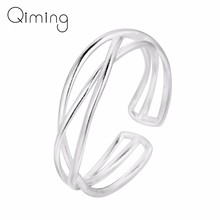 Minimalist Simple Rings Women Female Cross Geometric Open Silver Vintage Ring Minimalist Jewelry Girls Birthday Christmas Gift(China)