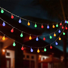 New 1.5M 3M 6M Fairy Garland LED Ball String Lights Waterproof For Christmas Tree Wedding Home Indoor Decoration Battery Powered