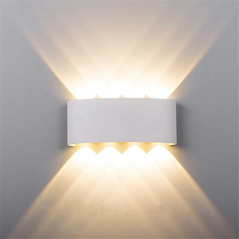 8W Waterproof Outdoor LED Wall Lamp Aluminium UP Down Garden Porch Lamp For Sconce Terrace Corridor Balcony Lighting Decoration