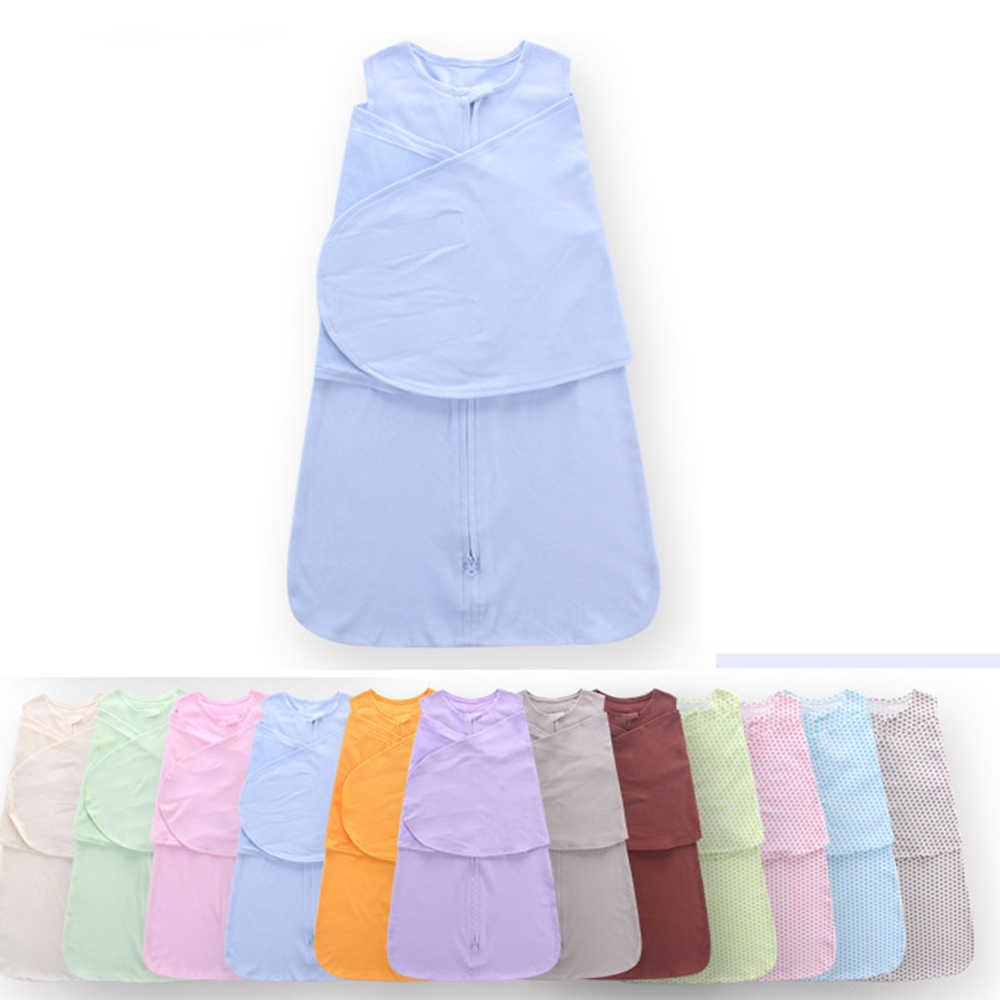 100% algodão bebê sleepsack infantil saco de dormir 66cm newborn swaddle wrap bebê 0-6 meses azul rosa cinza