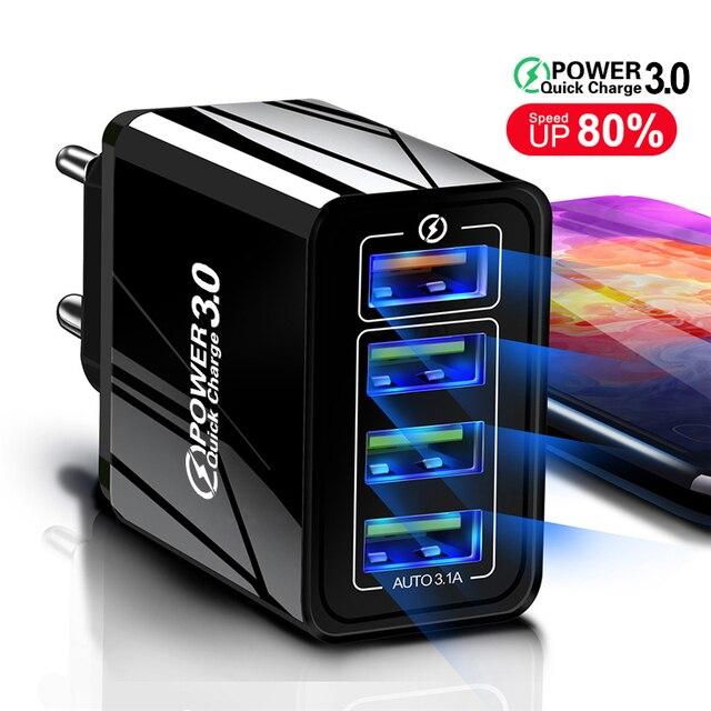 Lovebay 48W Caricabatterie Rapido 3.0 del Caricatore del USB Per il iphone Samsung Tablet UE Spina DEGLI STATI UNITI Della Parete Adattatore Del Caricatore Del Telefono Mobile ricarica veloce 1