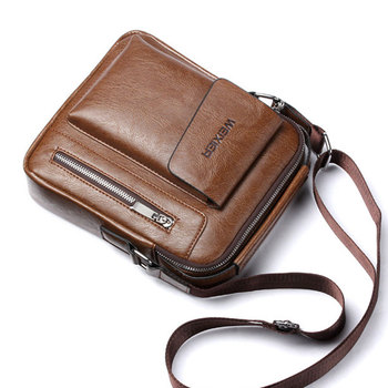 Casual Men Shoulder Bag Vintage Crossbody Bags High Quality Male Bag PU Leather Handbag Capacity Men Messenger Bags Tote Bag 3