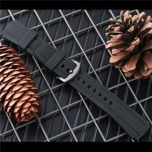 Pulseira de borracha para edificewatch EF-552D-1A pulseira esportiva homem silicone 17mm borboleta fivela EF-552 ferramentas