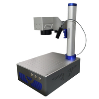 Auto focus 20W 30W 50W Raycus Fiber Laser Marking Machine with up and down laser head for metal engraving steel marking cutting