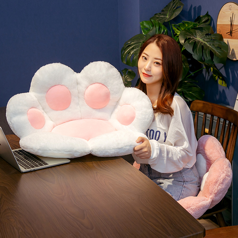 1 PC INS NEW Paw Pillow Animal Seat Cushion Stuffed Small Plush Sofa Indoor Floor Home Chair Decor Winter Children Gift 5