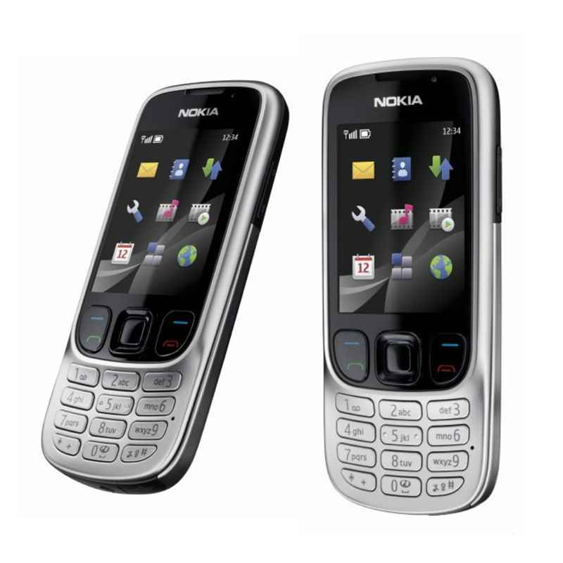 ĐTDĐ Nokia 6303 Classic 6303C FM GSM Hỗ Trợ Điện Thoại Di Động Nga Bàn Phím Ban Đầu Mở Khóa Điện Thoại Miễn Phí vận chuyển