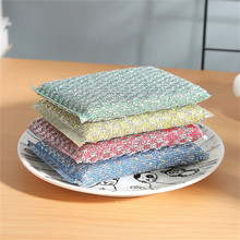 Home kitchen strong non-stick oil scouring dishes towel kitchen towel rag sponge brush pot cleaning tool kitchen product цены