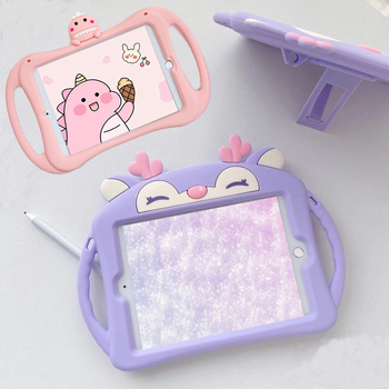 Cute Cartoon Kids Cover for IPad 9.7 2017 2018 Mini Case 10.2 Pro Tablet Soft Silicon Stand Funda Air 1 2 - discount item  20% OFF Tablet Accessories