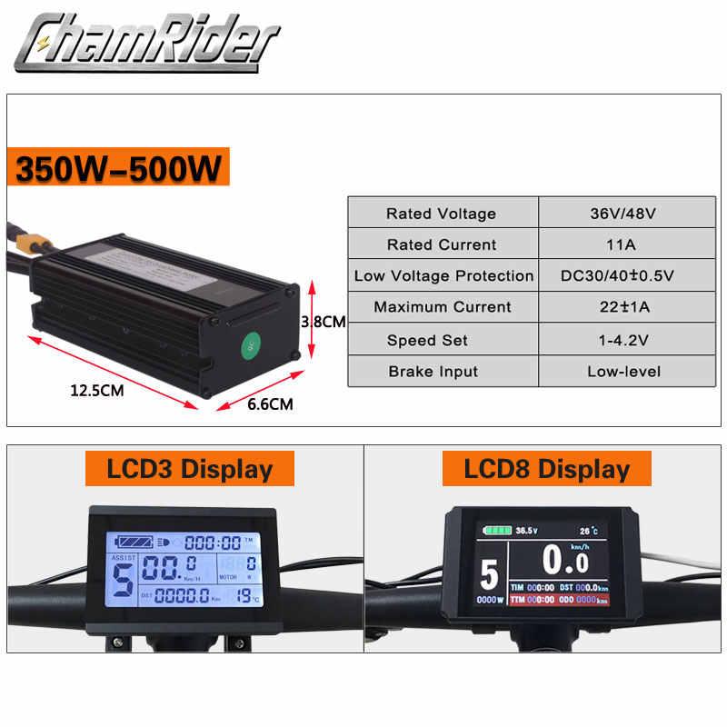 BAFANG 36V 350W 48V 500W ebike kit de conversion de vélo électrique SWX02 8fun marque sans batterie écran LCD RM G020.350/500.D DC
