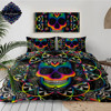 Chaos By Brizbazaar Bedding Set Queen Colorful Skull Duvet Cover Galaxy Mandala Gothic Bed Set 3-Piece Universe Cool Bedclothes 1