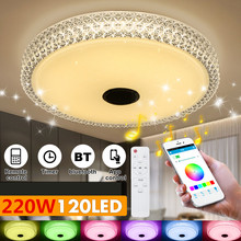 40CM! 220W Modern RGB LED Ceiling Lights Home lighting APP bluetooth Music Light Bedroom Lamps Smart Ceiling Lamp+Remote Control