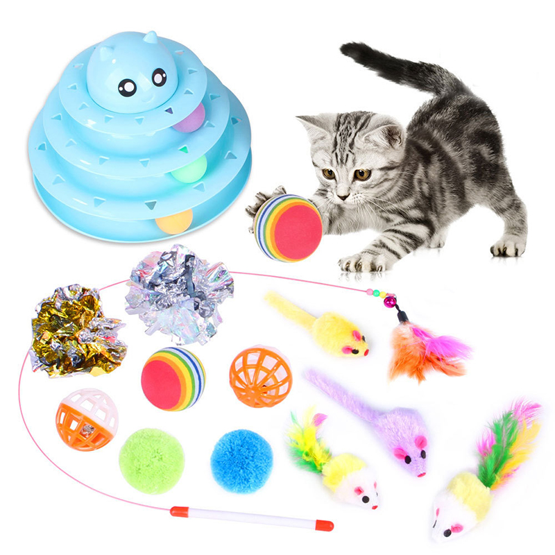 14pcs cat toy