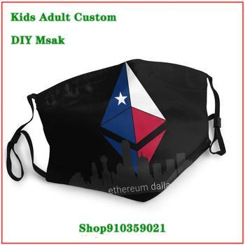 Latest popularity mascara protectora facial lavable Ethereum (1) cloth face masks masque reutilisable enfant washable mask pm2.5