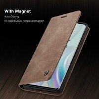 CaseMe-funda magnética de cuero para teléfono móvil, carcasa de lujo con tapa para OnePlus 1 + 7 8 Pro, ranura de tarjeta de soporte para One Plus 8 Pro