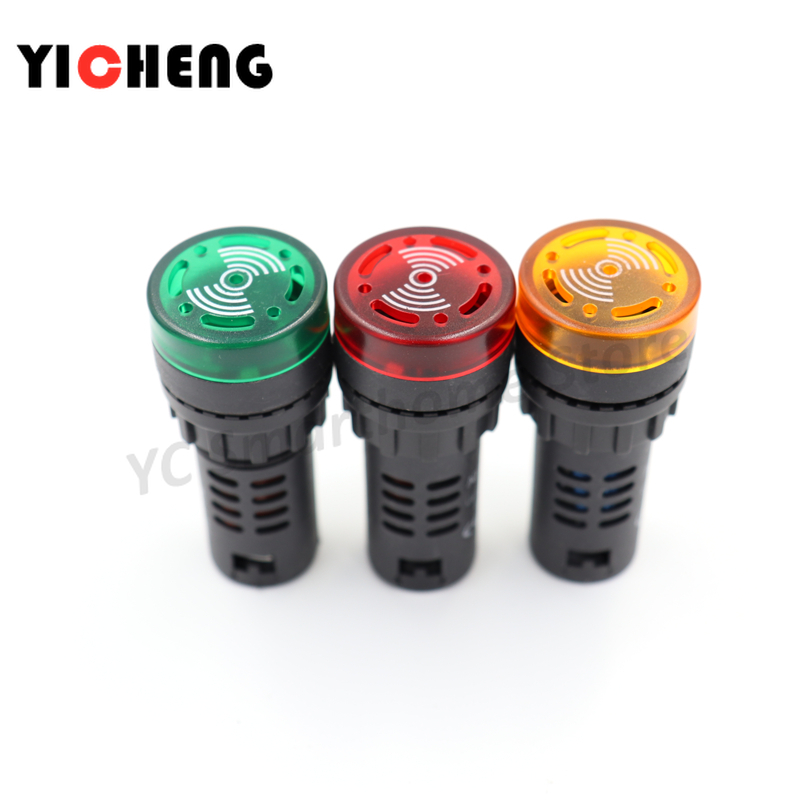 10pc Flash Light Red LED Active Buzzer Beep Indicator 16mm AD16-16SM 12V to 380V
