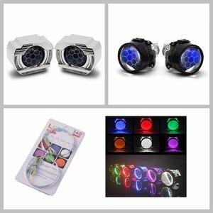Image 4 - 2.5 lenti per fari LED Angel Eyes lente bi xeno Devil Eyes proiettore per proiettori H4 H7 H1 accessori per luci auto Tuning