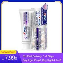 Crista 3d branco dentífrico brilho fluoreto antipatia complexo creme dental espremedor avançado dentes branqueamento pasta de dente 116g