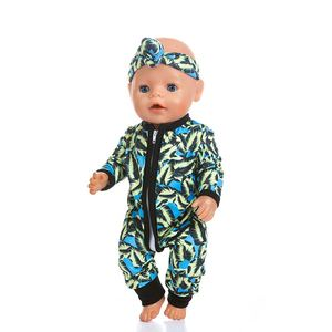 Image 5 - New fashion Jumpsuits Fit For 43cm Zapf Born Baby Doll 17inch Born Babies Doll Clothes