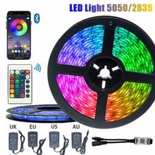 5M 10M LED Strip Light 5050 2835 Waterproof Bedroom Decoration Lamp Strips Flexible Ribbon String Bluetooth Controller Lighting