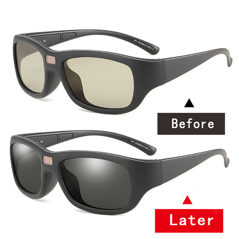 Auto Adjustable Dimming Sunglasses Men Polarized Photochromic Auto Darkenning Discoloration Chameleon Sun Glasses Driving UV400 1