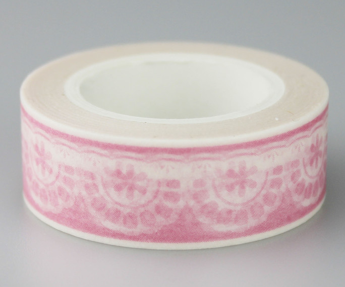 Pink Snow Adhesive Washi Tape(1piece)