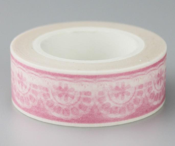 Pink Snow Adhesive Washi Tape(1piece)
