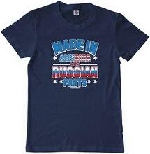 Детская футболка Threadrock, сделано в Америке, с российскими частями, Молодежная Футболка, Россия