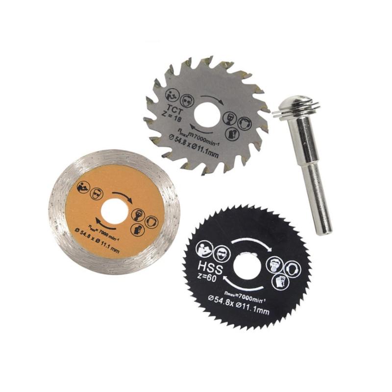 3Pcs 54.8 Mm High Quality Mini Circular Saw Blade Wood Cutting Blade Set
