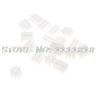 20 Pcs White Plastic Machanical Machine Components 0.2