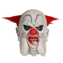 Halloween Mask Scarlet Round Nose Scary Clown Latex Headgear Masks Funny Masks Holiday