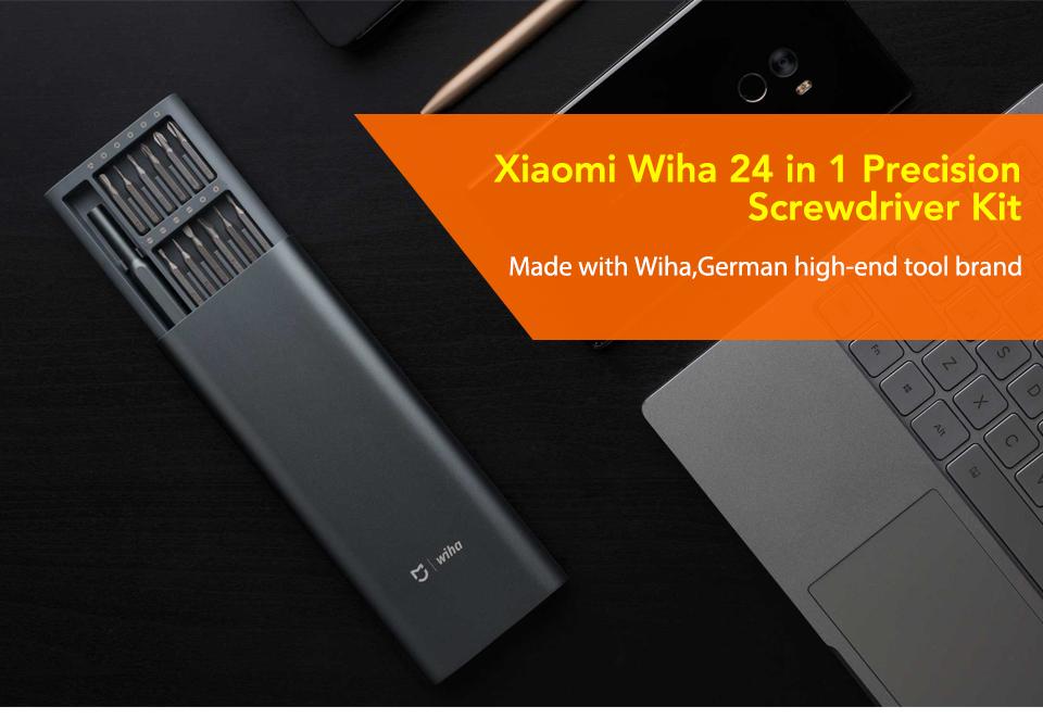 Original Xiaomi Mijia Wiha 24 in 1 Precision Screw Driver Kit 60HRC Magnetic Bits Xiaomi Home Kit Repair Tools Xiomi Xaomi (1)