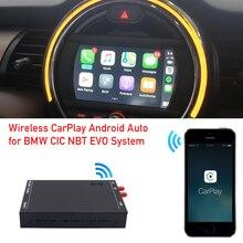 미니 R55 용 R56 R57 R58 R59 R60 2008 2016 NBT CIC 시스템 무선 carplay 어댑터 android 자동 인터페이스 airplay mirror