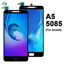 """5.2 """"lcd completo para alcatel a5 led 5085 5085y 5085d display lcd montagem da tela de toque para alcatel 5085 peças reparo da tela"""